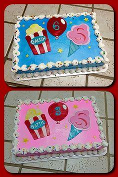 carnival sheet cake LDs Birthday Party Pinterest Carnival