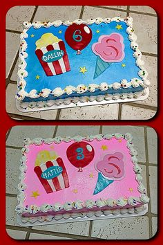 ruffled pinwheel carnival birthday cake Kids Cakes by Rock Star