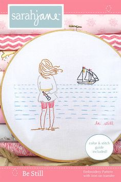 Embroidery Pattern PDF  Be Still by sarahjanestudios on Etsy, $6.00