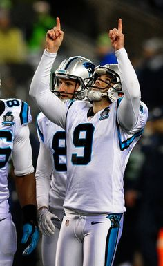 Carolina Panthers kicker Graham Gano (9) celebrates his field goal kick vs  the Seattle e3b326617