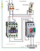 Single Phase Motor Contactor Wiring Diagram Elec Eng