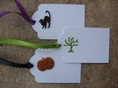 Set of 3 Fall Gift Tags with a Black by eyepoppingcreations, $3.00