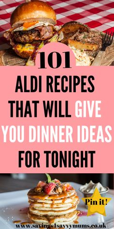 Here are 101 ALDI recipes that will give you cheap dinner ideas tonight. We've included a meal plan and shopping list. All these meals are family friendly too by Laura at Savings 4 Savvy Mums Aldi Recipes, Fun Easy Recipes, Healthy Recipes, Recipes Dinner, Healthy Eats, Delicious Recipes, Recipies, Quick Family Dinners, Family Meals