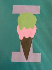 I is for ice cream via: vintage umbrella: Preschool Alphabet Projects... Letters I-P