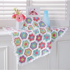 Mary Maxim - Baby Flowers Blanket