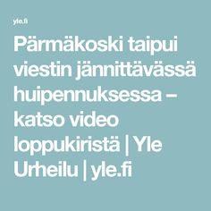 Pärmäkoski taipui viestin jännittävässä huipennuksessa – katso video loppukiristä   Yle Urheilu   yle.fi