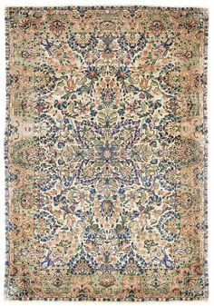 Antique Kerman Rug    Hand-knotted in Persia  Circa 1925