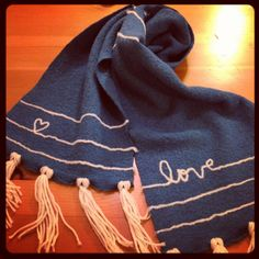 Needle felted scarf tutorial!