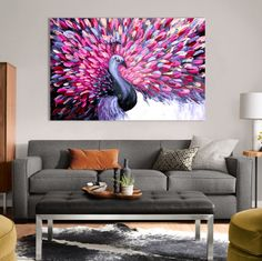 [Extra Large Wall Art, Large Wall Art, Wall Art, Modern Art, Wall Hanging, Peacock Painting, Home Decor, Original Painting, Painting on Canvas, Canvas Art, Animal Painting, Purple Painting, Purple Canvas Art] --------- Looking for extra large wall art? Youve come to the right art shop! artocrat paintings are ranked one of the Best Art Gifts of 2017. Everyone deserves to own an original painting! Love the idea of this painting but looking for something slightly different? You can check out…