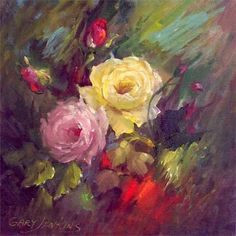 gary jenkins artist - typical Gary Jenkins style of oil painting - a flower magician. Art Floral, Gary Jenkins, Flower Painting Canvas, Painting Art, Seascape Art, Guache, Pictures To Paint, Love Art, Watercolor Flowers