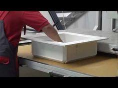 Waschbecken fertigen mit der AKV-800 - YouTube
