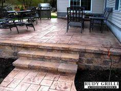 Rudy Grilli Concrete Work - Stamped Decorative Concrete Raised Patios NJ