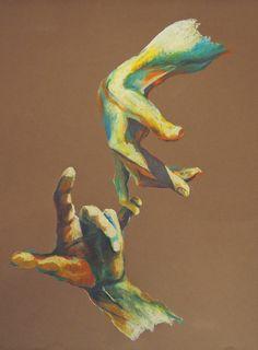"""pastels gras """" à deux doigts d'une gavotte""""  par planète terre... sur alittlemarket.com"""