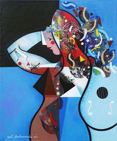 Une mélodie qui te ressemble - 50 x 60 cm - Acrylique sur toile