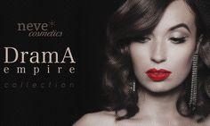 Drama Empire Neve Cosmetics: anteprima collezione - http://www.beautydea.it/drama-empire-neve-cosmetics-collezione/ - Pelle di porcellana e labbra fiammanti: scopriamo in anteprima la nuovissima collezione Drama Empire di Neve Cosmetics ispirata alle icone di Hollywood!