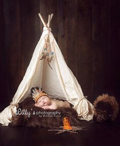 Newborn Indian Headdress and Moccasin Set by CraftyKsCrochet