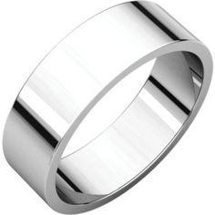 F7 / 14kt White / 6 mm / Flat Band
