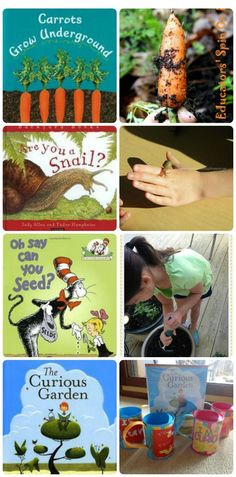 40 kid-friendly garden activities & books!  Fun ideas for learning about plants, gardening & life cycles.