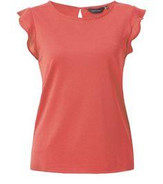 Pink Ruffle Sleeve T-Shirt