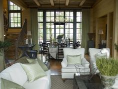 Outdoor Colors - HGTV Dream Home 2006: Dining Room Pictures on HGTV, like the openness and light
