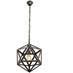 Industrial Style Matte Black Iron Cage Pendant Light ($176) ❤ liked on Polyvore featuring home, lighting, ceiling lights, decor, chain light, chain pendant light, hanging chain lamps, matte black pendant light and iron lighting
