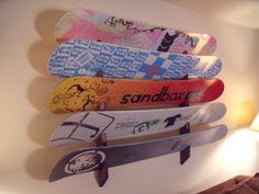 Snowboard Wall Rack Mount  Holds 5 boards by ProBoardRacks on Etsy, $49.99