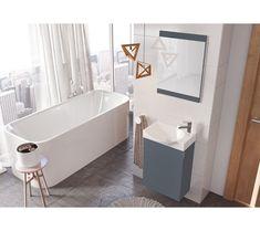 Enkel og funksjonell møbelpakke 3-i-1 Speil, serv.skap og servant