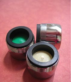 "Conserve water! faucet aerator - ""Described by EarthEasy.com as 'the single most effective water conservation savings you can do for your home', low-flow aerators belong on the faucets of every kitchen. They can reduce a home's overall water consumption by up to 50%, helping your wallet and the environment all at the same time. Inexpensive and can be found at any hardware store."" - webecoist.com #water #conservation #green #eco-friendly"