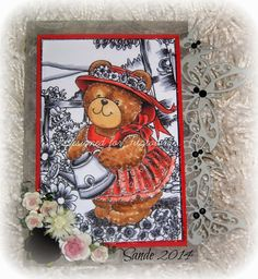 Fitztown Challenge Blog: Wednesday with Sande - AG No. 42 using Teddy 9 from Fitztown.com, visit Sande's personal blog for details: http://sandensupinat.blogspot.com/