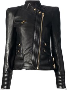 Women'S Genuine Lambskin Motorcycle Real Leather Jacket Slim Fit Biker Jacket #1
