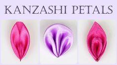 How to make kanzashi petals I Flower petals tutorial