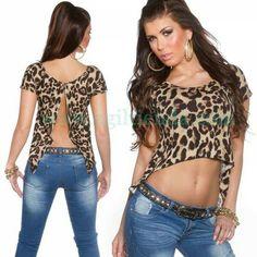 #CAMISETA #CORTA #ESPALDA #ABIERTA, #mangacorta para #mujeres,  que se puede #atar para #crear un #efecto #top #corto. #Top #mujer #estilo #exclusivo y #casual, #tejido #elastico, #CuelloC, un #diseño con #toque #sexy para #brillar #complementando con #nuestro @armario. Encuentralo en www.agiltienda.com #online #shop #buy #sexy #fashion @agiltienda.es