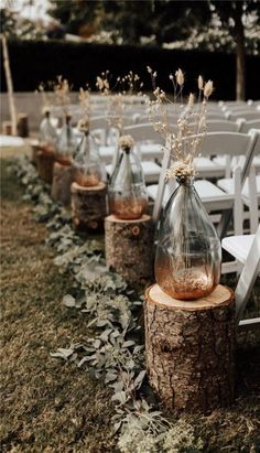 33 Fall Wedding Aisle Decorations to Blow Your Mind Away! #howtogethimtopropose Wedding Ceremony Ideas, Wedding Aisle Decorations, Wedding Arrangements, Table Decorations, Centerpiece Ideas, Wedding Signs, Table Centerpieces, Garden Decorations, Wedding Week