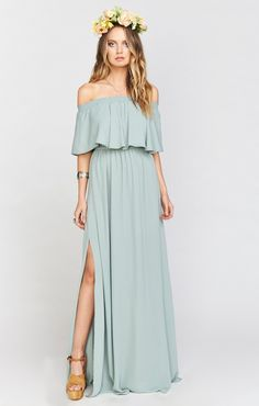 Hacienda Maxi Dress ~ Silver Sage Crisp ~ Show Me Your Mumu