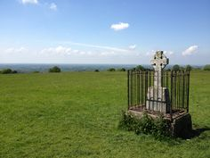 View of the beautiful country side at the Hill of Tara