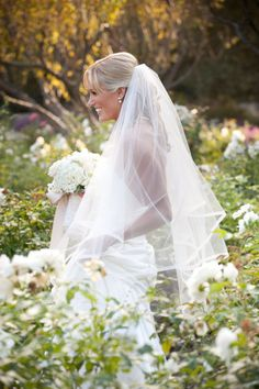 veil and white flowers
