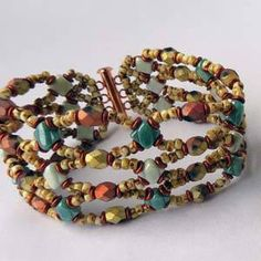 Buy Beads, Jewelry Making Supplies & beading tools for your beaded jewelry designs. We've got beads, jewelry findings & jewelry supplies to make your own beaded jewelry. I Love Jewelry, Charm Jewelry, Jewelry Crafts, Jewelry Ideas, Jewelry Making, Netted Bracelet, Seed Bead Bracelets, O Beads, Seed Beads