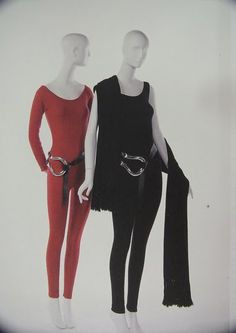 Elsa Peretti belts in sterling silver paired with Halston cashmere jumpsuits....perfection!!