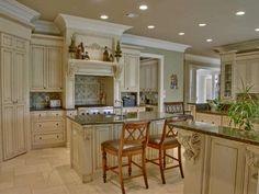 high end tuscan kitchen islands | Gourmet Kitchen w/2 refrigerator & freezer drawers,high-end stainless ...