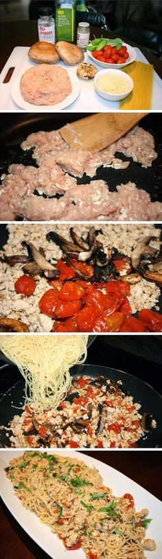 Pasta Toss with Chicken and Roasted Tomatoes Recipe