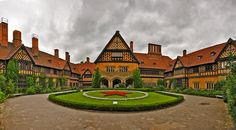 Schloss Cecilienhof Palace -Potsdam, Germany. Last palace built by the Hohenzollern family by Emperor Wilhelm II of Germany. Site of Potsdam Conference held between the United Kingdom, the United States, and the Soviet Union. It included Winston Churchill, Harry Truman, and Joseph Stalin to decide how to handle the defeated Nazis.