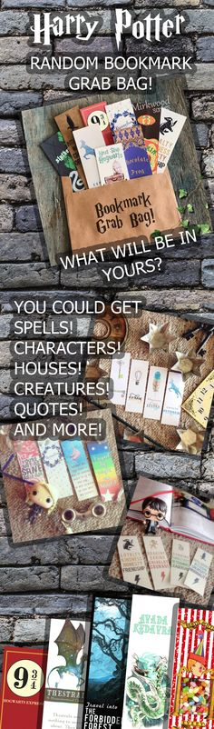 9 Random Harry Potter themed Bookmarks!