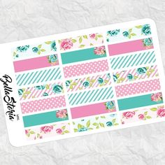 this washi strips kit is part of my new theme: paris-floral   #kikkik #filofax #plannerph #planner #happymail #erincondren #scrapbookph #scrapbook #kawaii #stickers #stickerph #plannercommunity #plannersticker #plannersociety #plannergirl #plannergoodies #plannerjunkie #plannercommunityph #planneraddict #erincondren #etsyshop #etsyfinds #mambi #etsypromo by bellastoriamnl