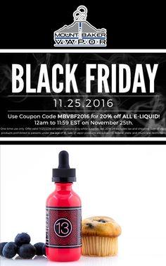 Mt Baker Vapor is offering Black Friday Sale.For more #Mt Baker Vapor  #Coupon #Codes visit: http://www.couponcutcode.com/stores/mount-baker-vapor/