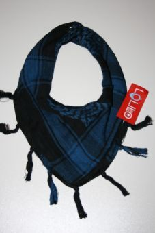 La Li Lo Halstuch Kafia blau schwarz