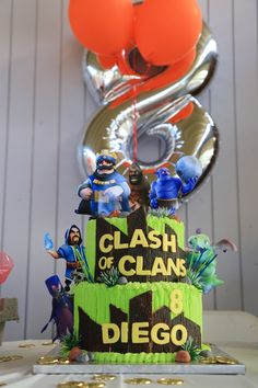 Clash Of Clan/ Clash Royale Birthday Cake