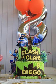 Clash Of Clan/ Clash Royale Birthday Cake