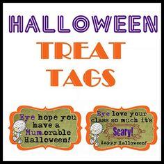 Free Printables Halloween Treat Tags