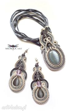 Komplet biżuterii sutasz surabaya komplety mokkaa naszyjnik