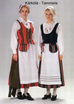 Folk Costume, Costumes, Black And White Pictures, Folklore, Finland, Beauty, Dresses, Fashion, Vestidos